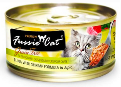 Fussie Cat Premium Tuna with Shrimp Canned Cat Food