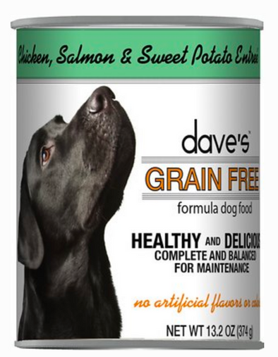 Dave's Grain Free Chicken Salmon Sweet Potato