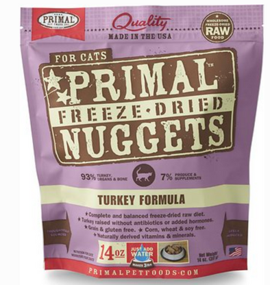Primal Raw Freeze Dried Feline Turkey Formula