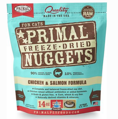 Primal Raw Freeze Dried Feline Chicken & Salmon Formula 5.5 oz