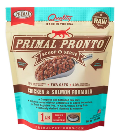 Primal Pronto Chicken and Salmon for cats