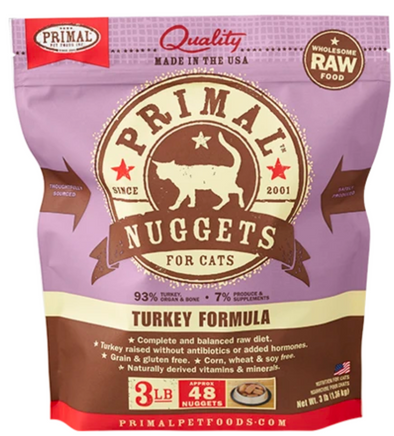 Primal Raw Frozen Turkey for cats