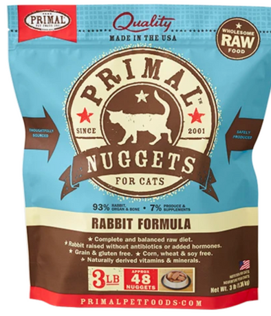 Primal Raw Frozen Rabbit for cats