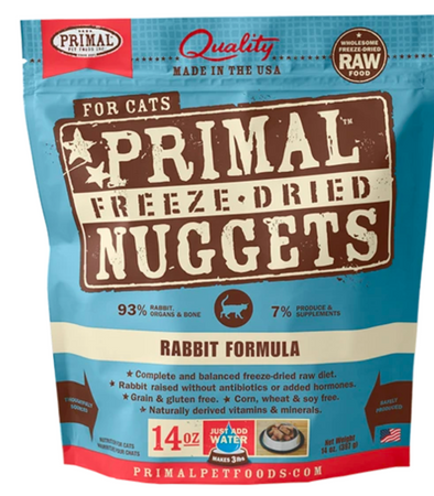 Primal Raw Freeze Dried Feline Rabbit Formula