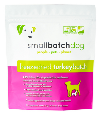 Small Batch Freeze Dried Turkey Dog Food