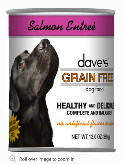 Dave's Grain Free Salmon Canned Food