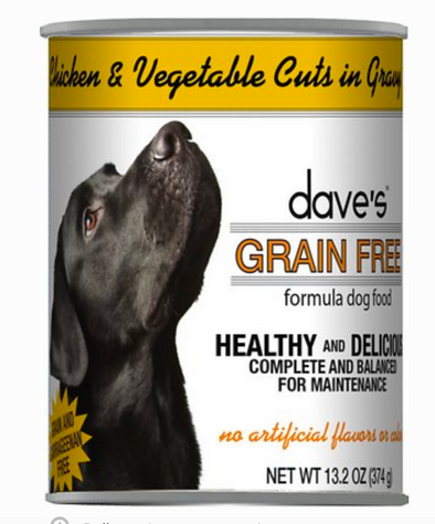 Dave's Green Free Chicken and Vegetables Canned Food