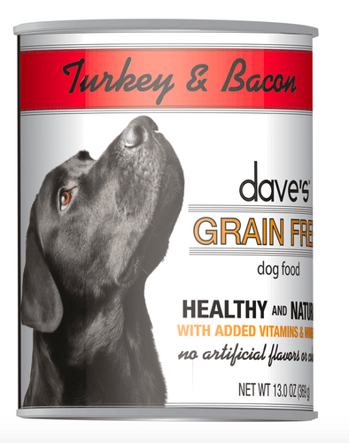 Dave's Grain Free Turkey and Bacon
