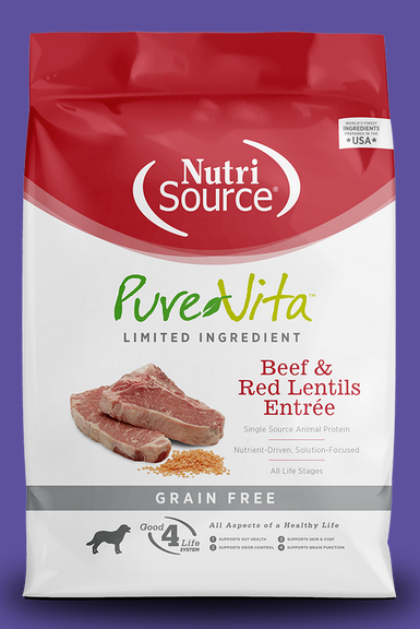 Pure Vita Beef & Red Lentil Dry Dog Food