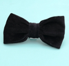 Mimi Green Velveteen Dog Collar Bow Ties