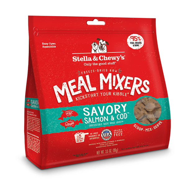 Stella & Chewy's Savory Salmon & Cod Freeze-Dried Meal Mixers For Dogs