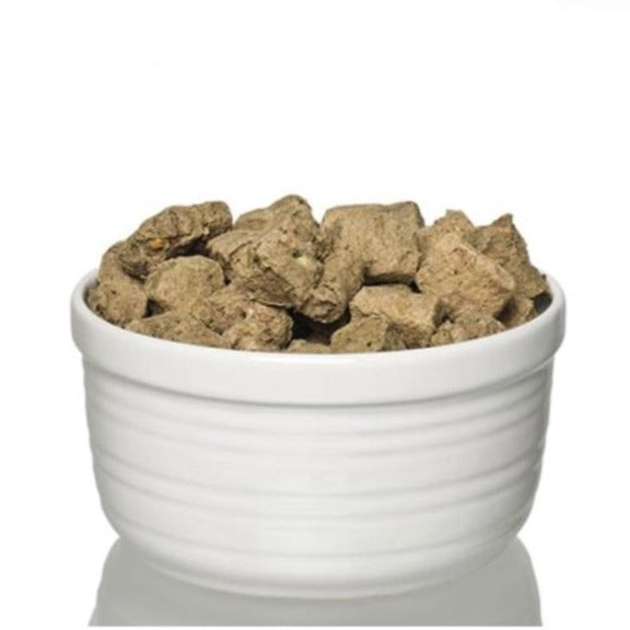Steve's Real Food Pork Freeze Dried Dog Food Diet, food in bowl