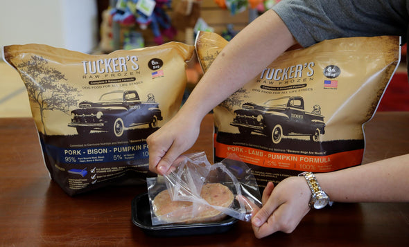 Tucker's Raw Frozen Complete & Balanced Dog Food-how to open