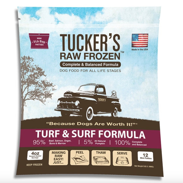 Barking Dog Bakery and Feed Turf & Surf Complete and Balanced Raw Diets for Dogs