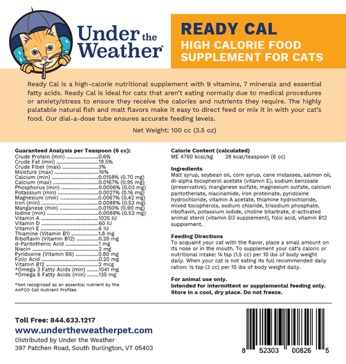 Under The Weather Ready Cal, label