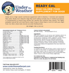 Ready Cal Supplement for Dogs, label