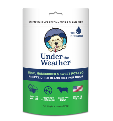 Under the Weather Rice, Hamburger and Sweet Potato Freeze-Dried Dog Food