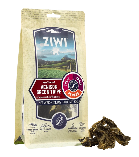 Ziwi Peak Venison Green Tripe Chews for Dogs, image front
