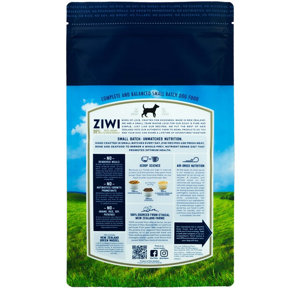 Barking Dog Bakery and Feed ZIWI Peak Air-Dried Beef Recipe Food for Dogs