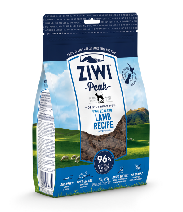 Ziwi Peak Air-Dried Mackerel & Lamb Recipe Food for Dogs, front