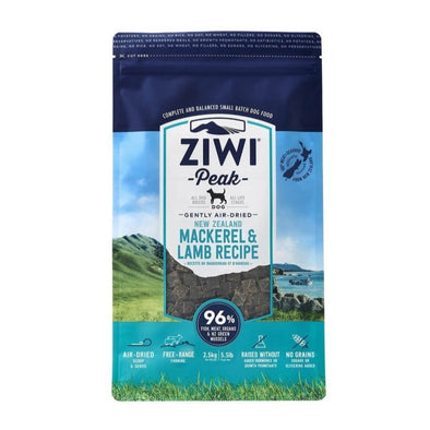 Ziwi Air-Dried Mackerel & Lamb Recipe Food for Dogs, front