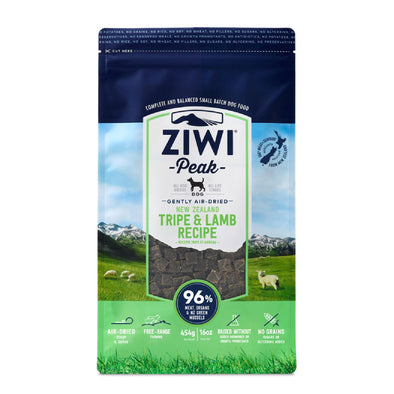 ZIWI Peak Air-Dried Tripe & Lamb Recipe Food for Dogs, front of package