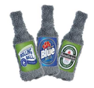 "Cycle Dog Duraplush ""Beer Bottle"" Dog Toys"