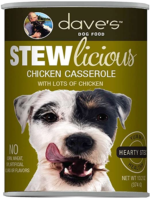 Dave's DOG Stewlicious Chicken Casserole Canned Food