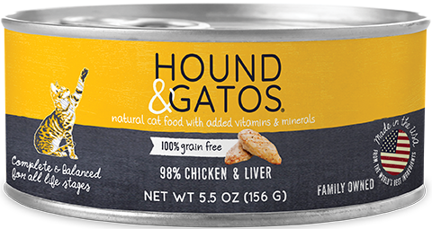 Hound & Gatos Chicken & Liver Formula Canned Cat Food