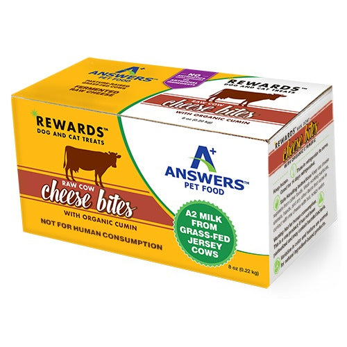 Answers Rewards Raw Cow Cheese Bites with Cumin