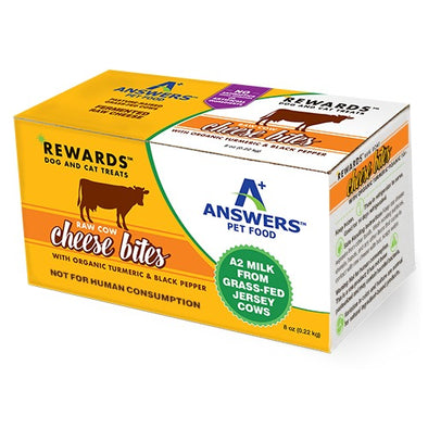 Answers Rewards Raw Cow Cheese Bites with Tumeric & Black Pepper