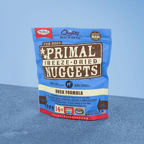 Primal Raw Freeze Dried Canine Duck Formula Food for Dogs