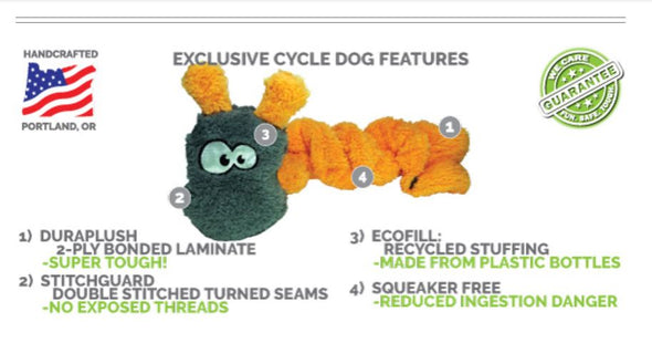 Cycle Dog Duraplush Zombie Tubeman