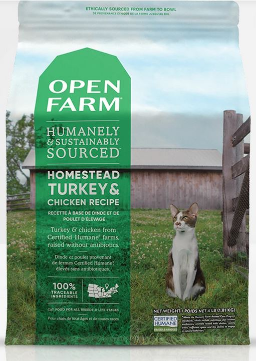 Open Farm Homestead Turkey & Chicken Recipe for cats