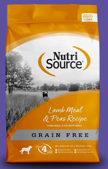 Nutrisource Lamb Meal and Peas Grain Free