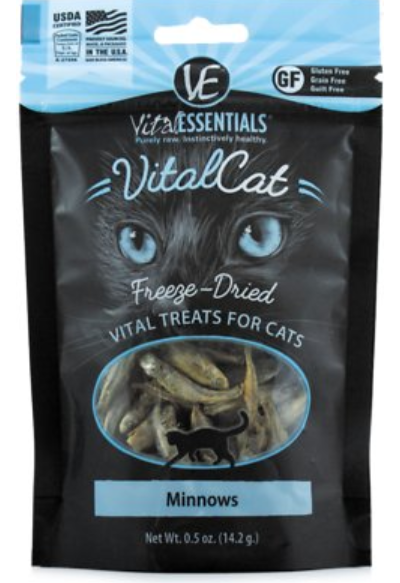 Vital Essentials Freeze Dried Minnows Cat Treats