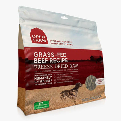 Open Farm Grass-Fed Beef Freeze Dried Raw Dog Food at Barking Dog Bakery and Feed