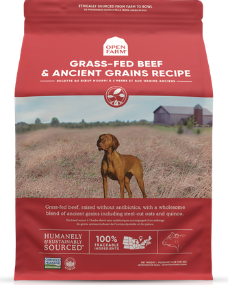 Open Farm Grass Fed Beef & Ancient Grains Dry Dog Food