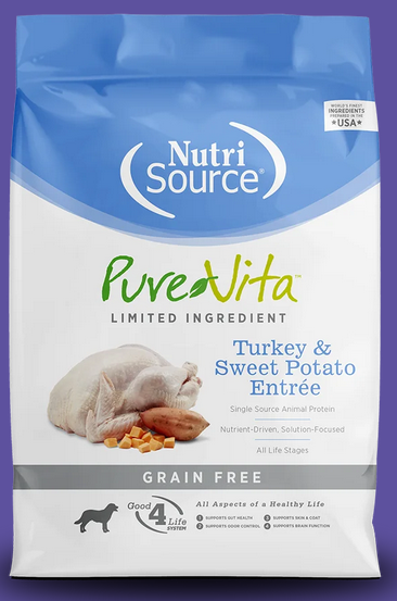 Pure Vita Turkey & Sweet Potato Dry Dog Food