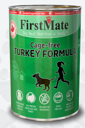 First Mate Limited Ingredient Cage Free Turkey Formula Canned Dog Food