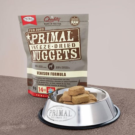 Primal Raw Freeze Dried Canine Venison Formula Food for Dogs