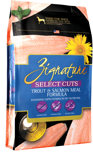 Zignature Select Cuts Trout & Salmon Meal Formula Dry Dog Food