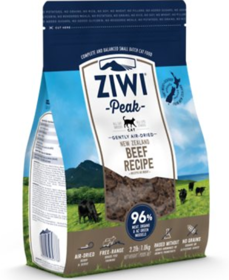 Ziwi Peak Beef Air Dried Food for Cats 2.2lb
