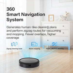 360 C50 Robot Vacuum Cleaner - 10.14 fl oz Water Tank Capacity - Smart Connect WI-FI & APP SMART NAV STRONG POWER