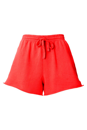 SHORTS MOLETOM TOMATE