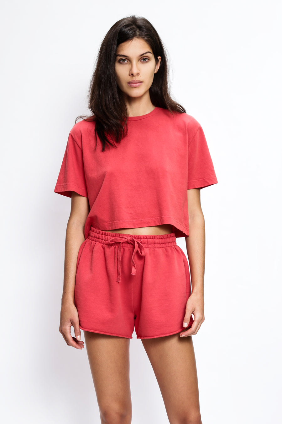 SHORTS MOLETOM CORAL