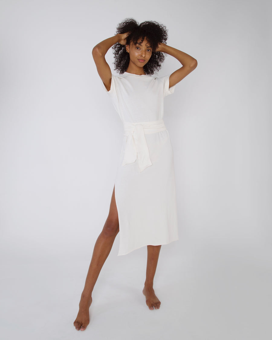 VESTIDO T-SHIRT OFF WHITE