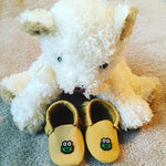 Baby's First Moccasins Made of Deer Hide