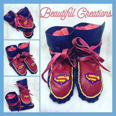Native Canadian Kids Moccasins (3 to 6 years)