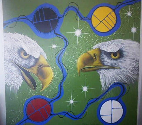 Spirit Eagles, Native Canadian Painting